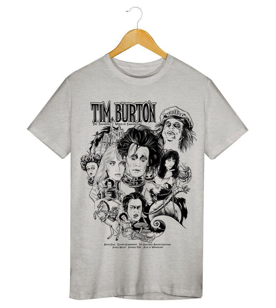 Camiseta - Tim Burton - Masculino