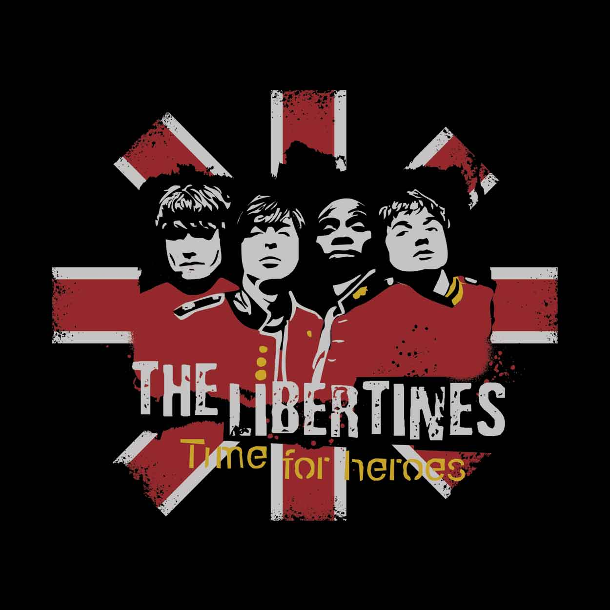Camiseta - Time for Heroes - The Libertines -