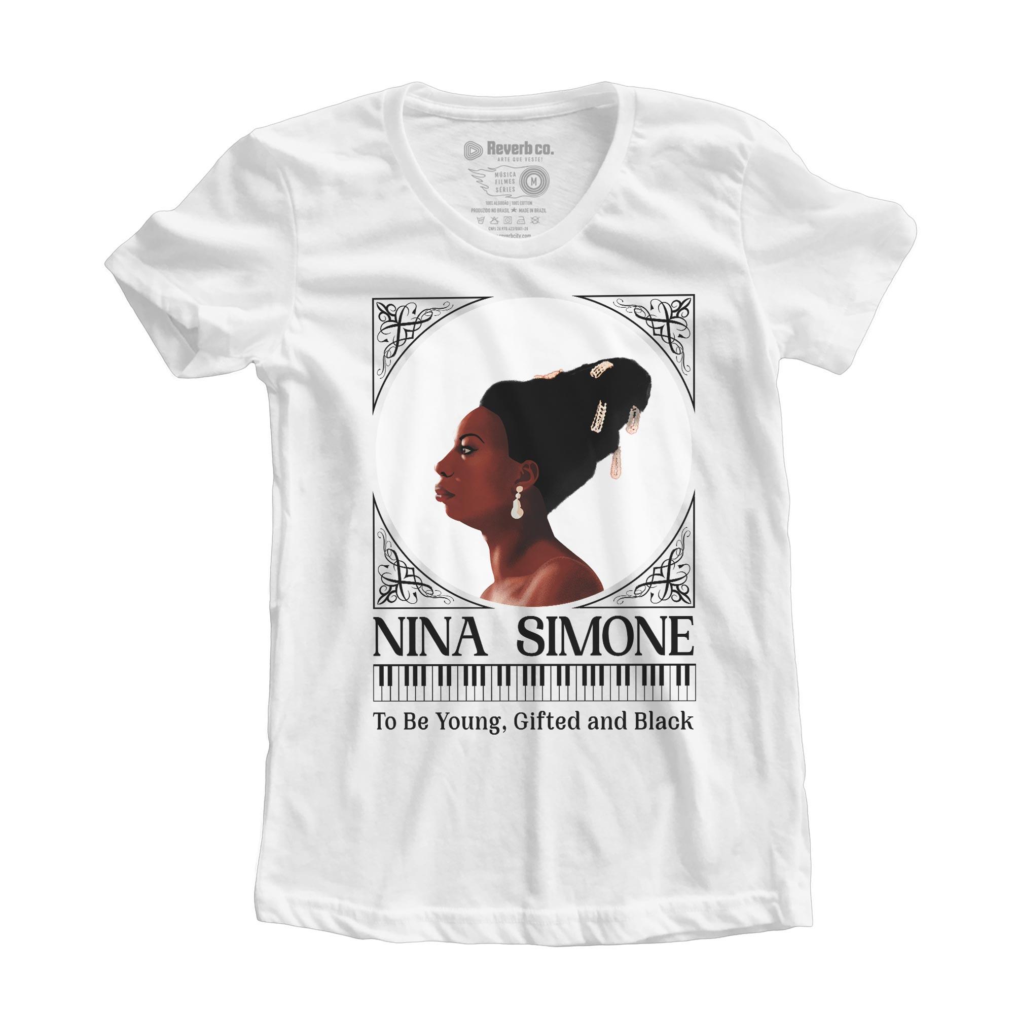 Camiseta To Be Young, Gifted And Black - Nina Simone - Feminino