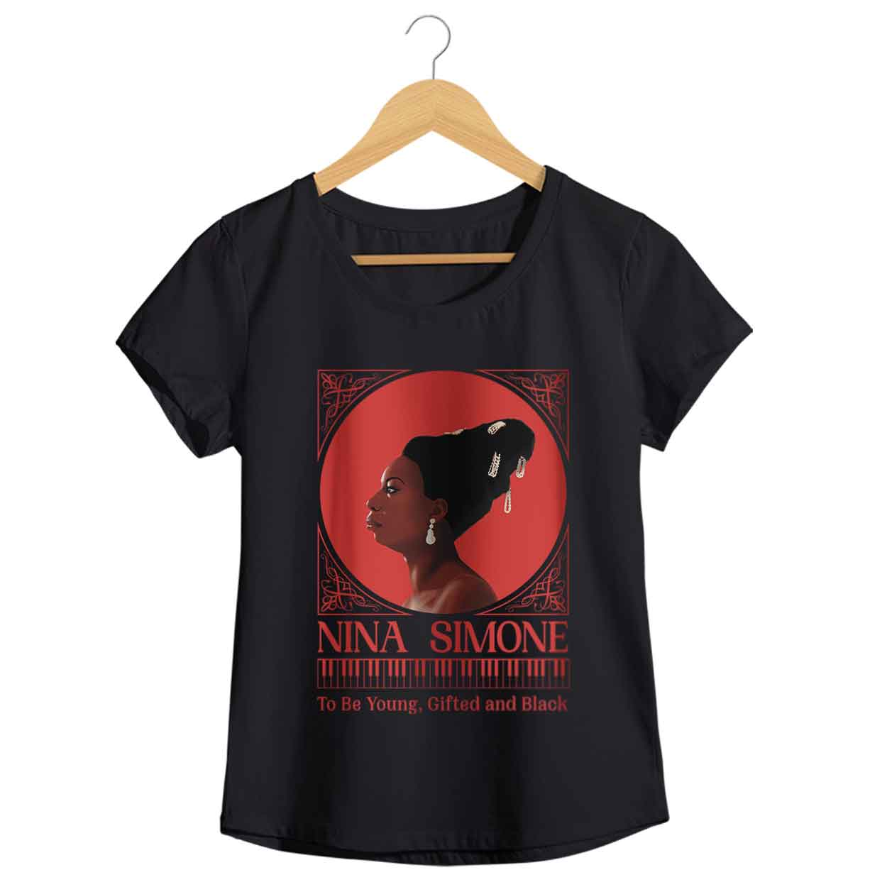 Camiseta - To Be Young, Gifted And Black - Nina Simone - Feminino