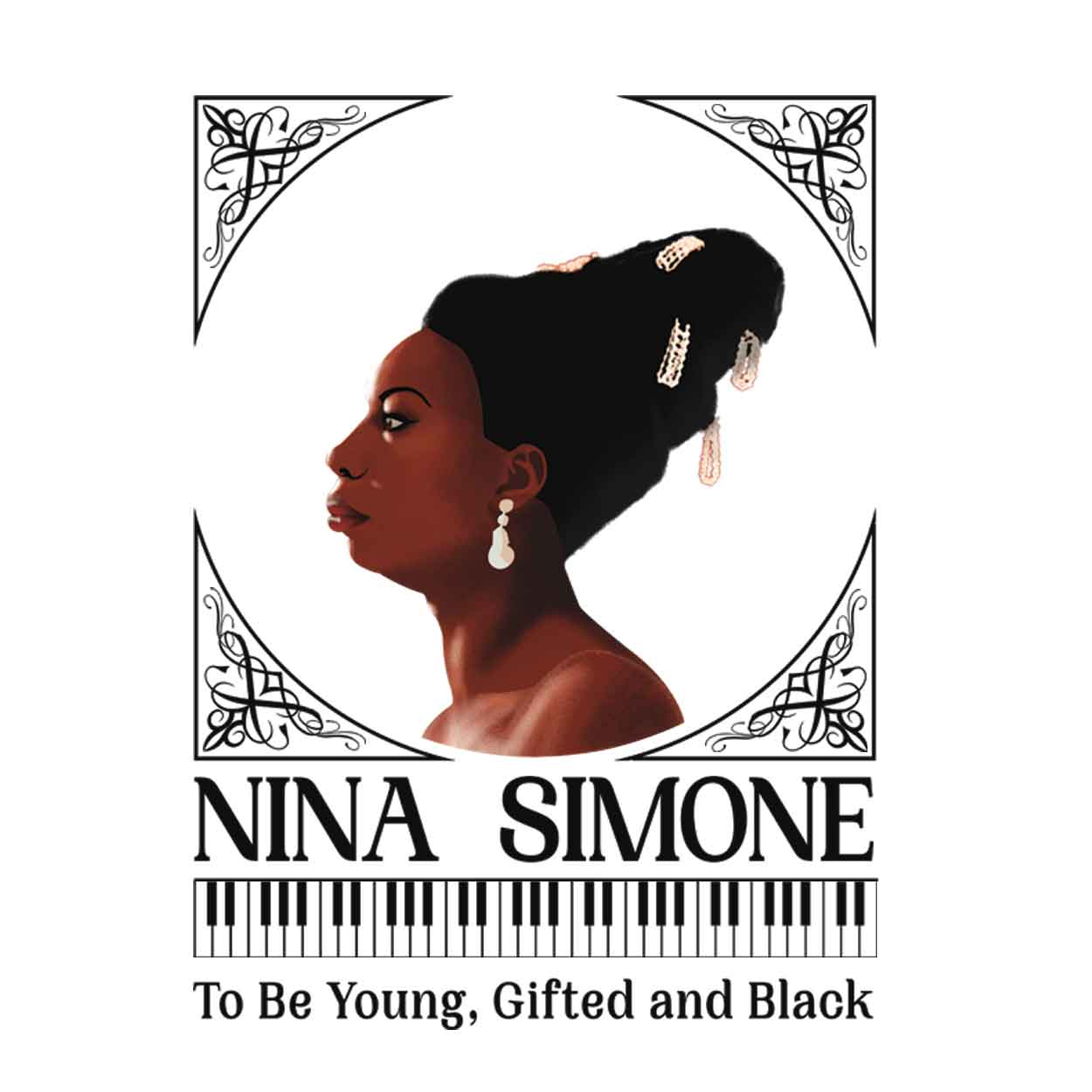 Camiseta To Be Young, Gifted And Black - Nina Simone - Infantil