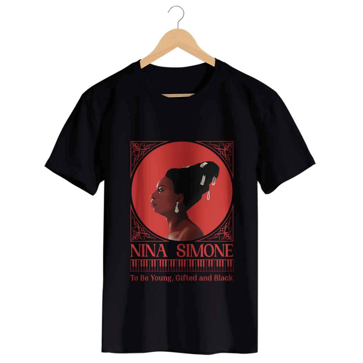 Camiseta To Be Young, Gifted And Black - Nina Simone - Masculino