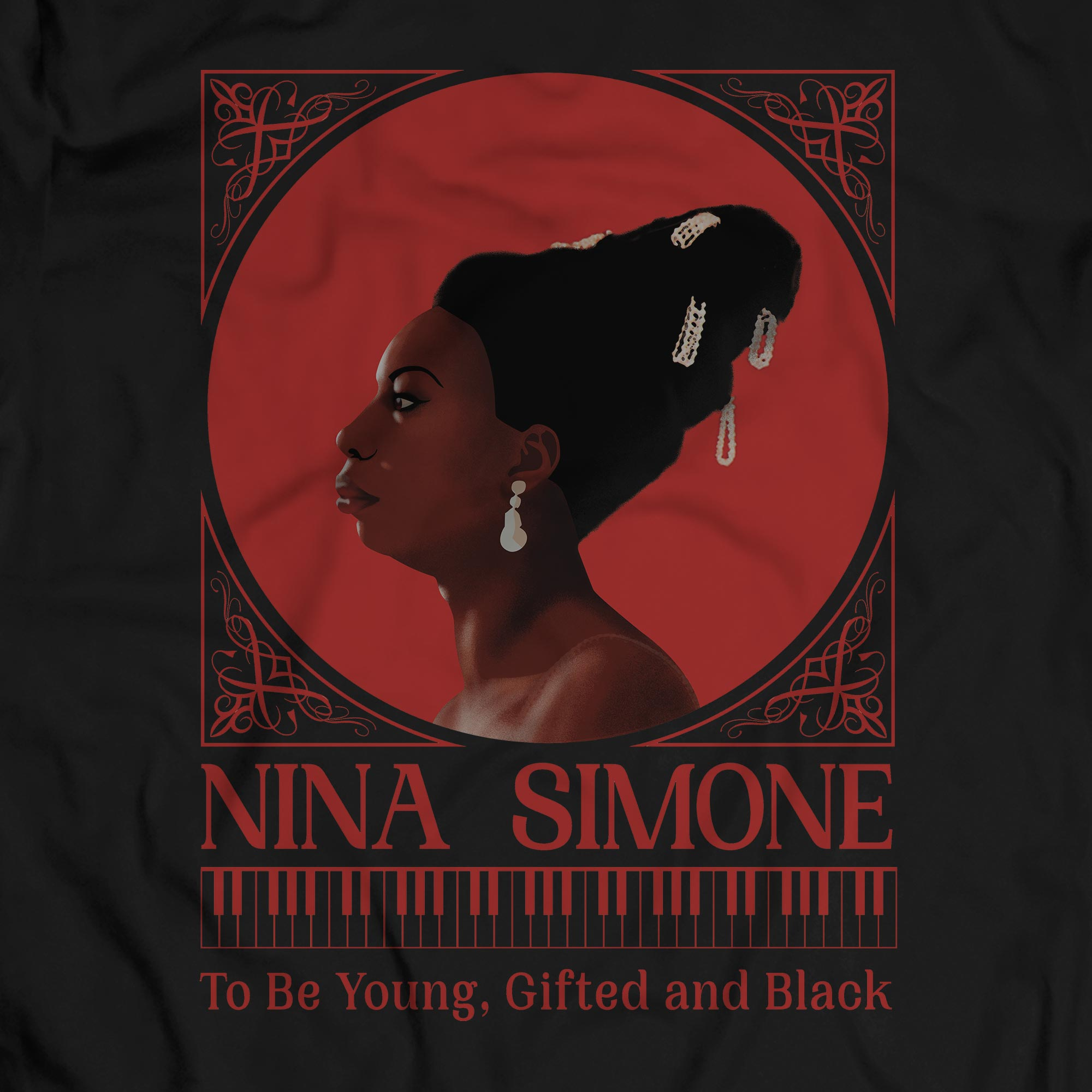 Camiseta To Be Young, Gifted And Black - Nina Simone - Masculino