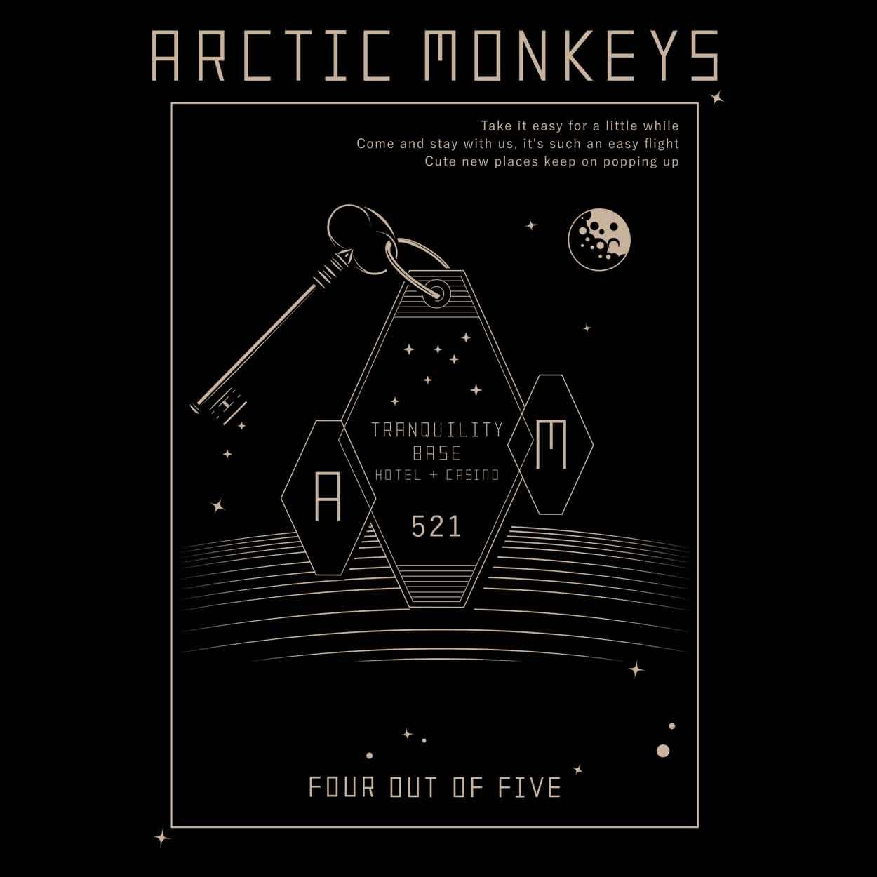 Camiseta Tranquility Base Hotel - Arctic Monkeys - Masculino