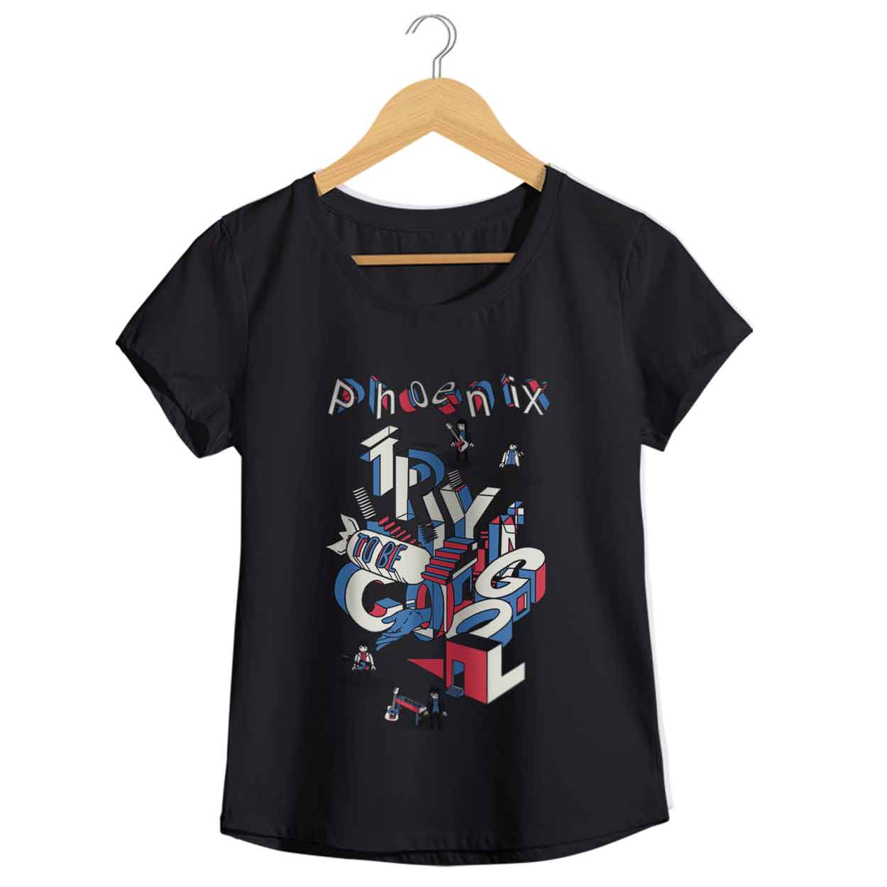 Camiseta Trying To Be Cool - Phoenix - Feminino