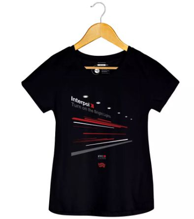 Camiseta Turn On The Bright Light 3 - Interpol - Feminino