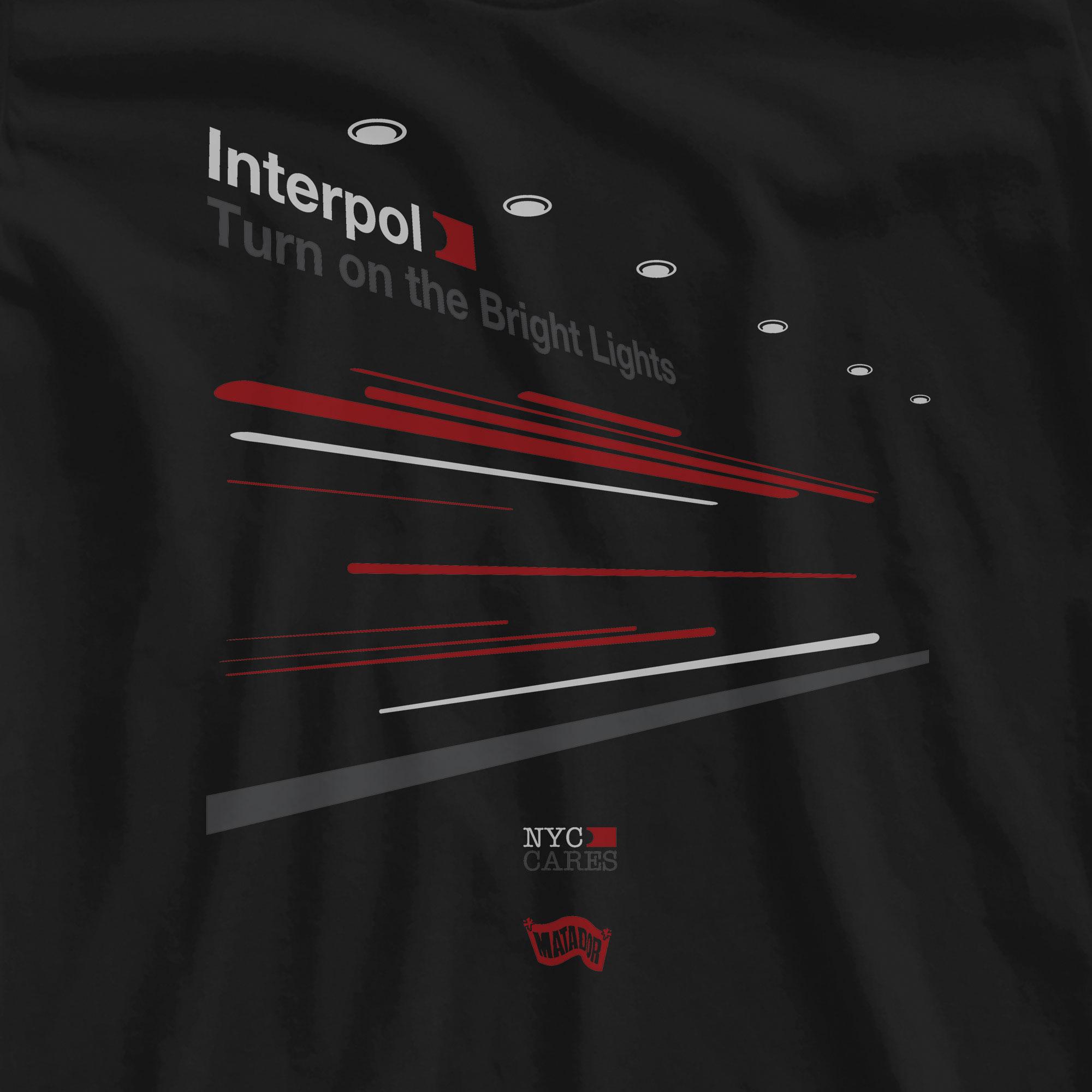 Camiseta Turn On The Bright Lights 3 - Interpol - Feminino
