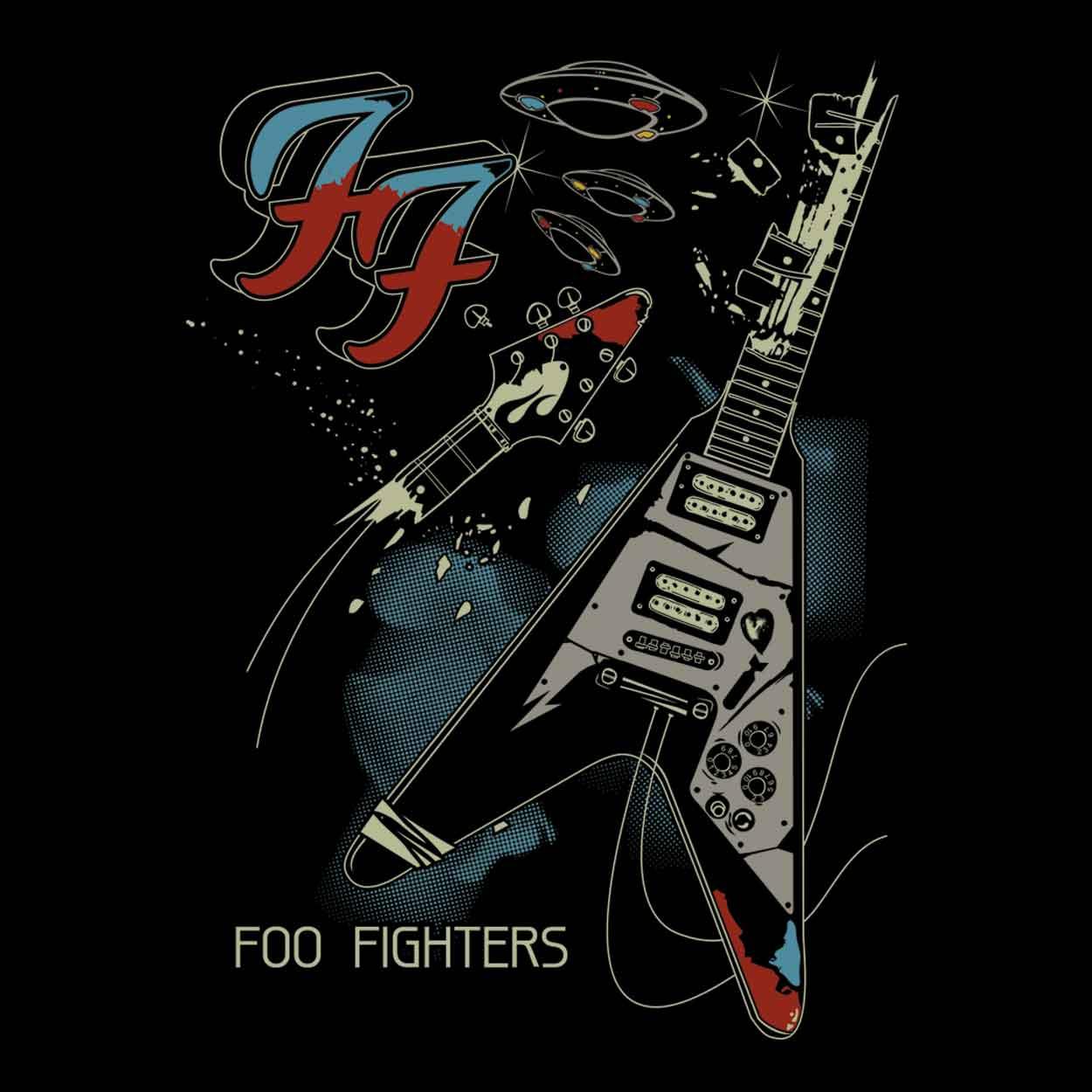 Camiseta - Um - Foo Fighters - Masculino