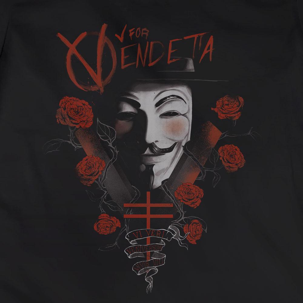 Camiseta V de Vingança - Feminino