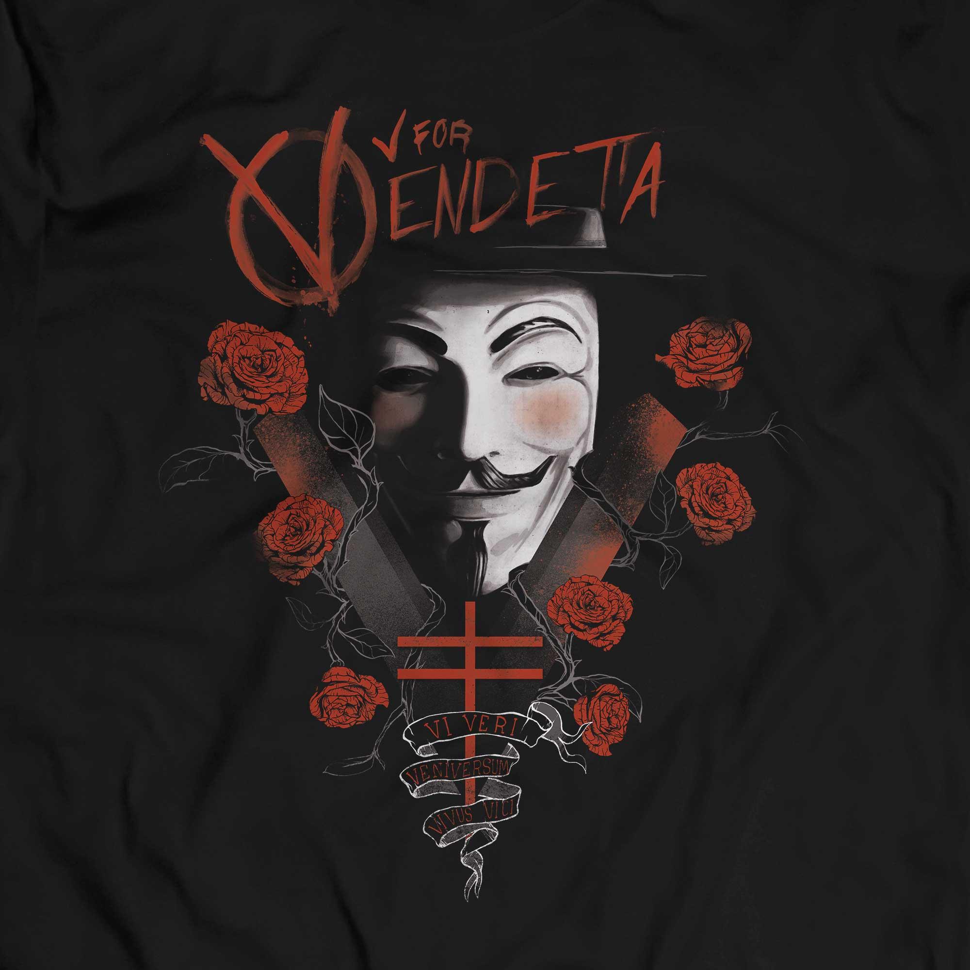 Camiseta V de Vingança - Masculino