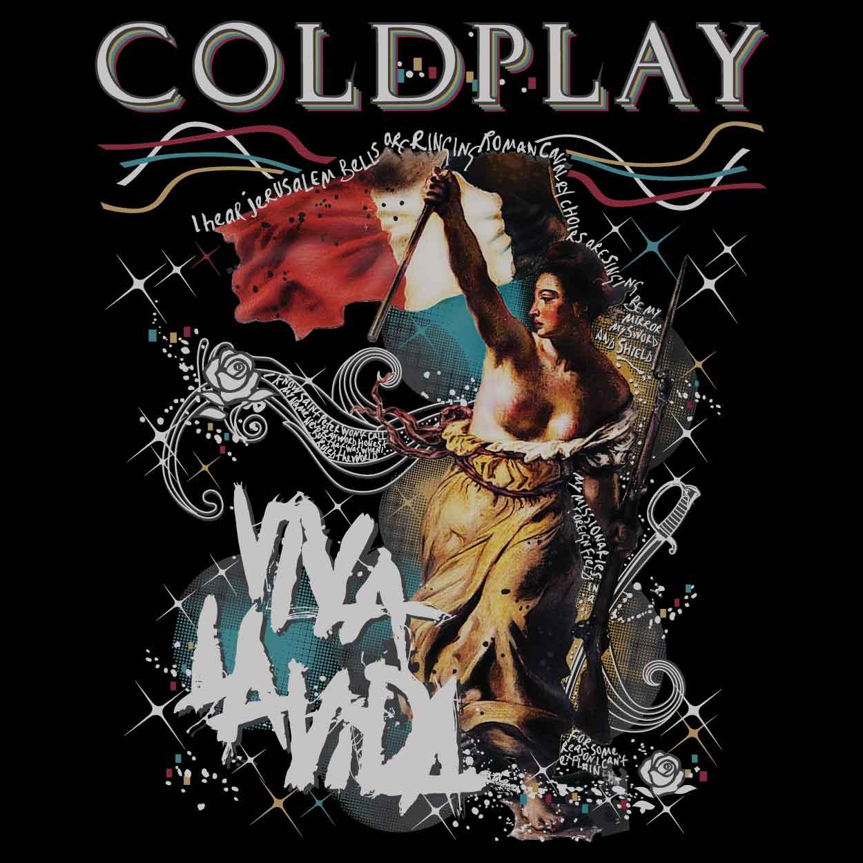 Camiseta Viva La Vida - Coldplay - Feminino