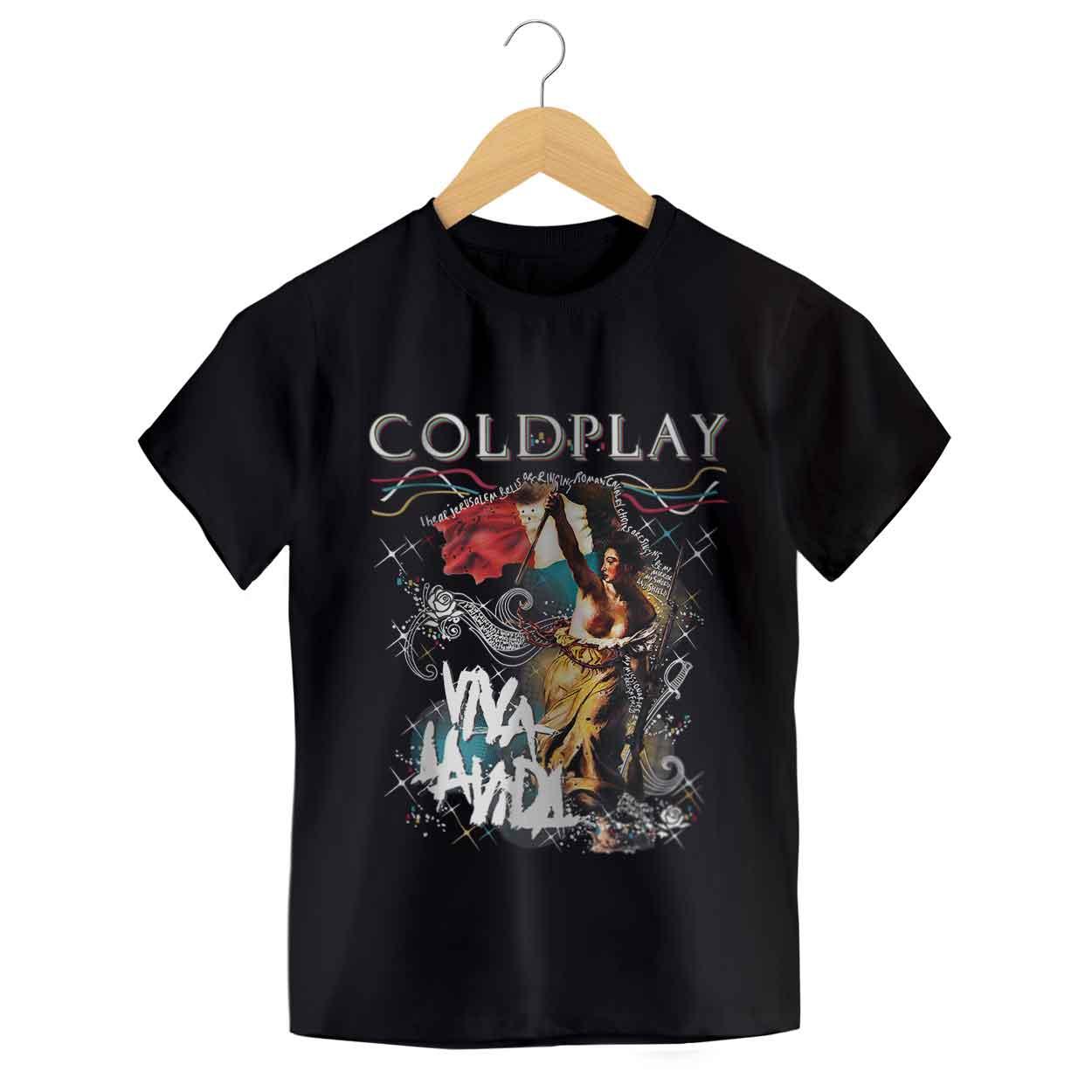 Camiseta - Viva La Vida - Coldplay - Infantil