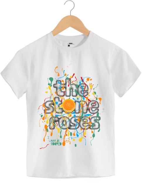 Camiseta -  Wanna Be Adored - The Stone Roses - Infantil