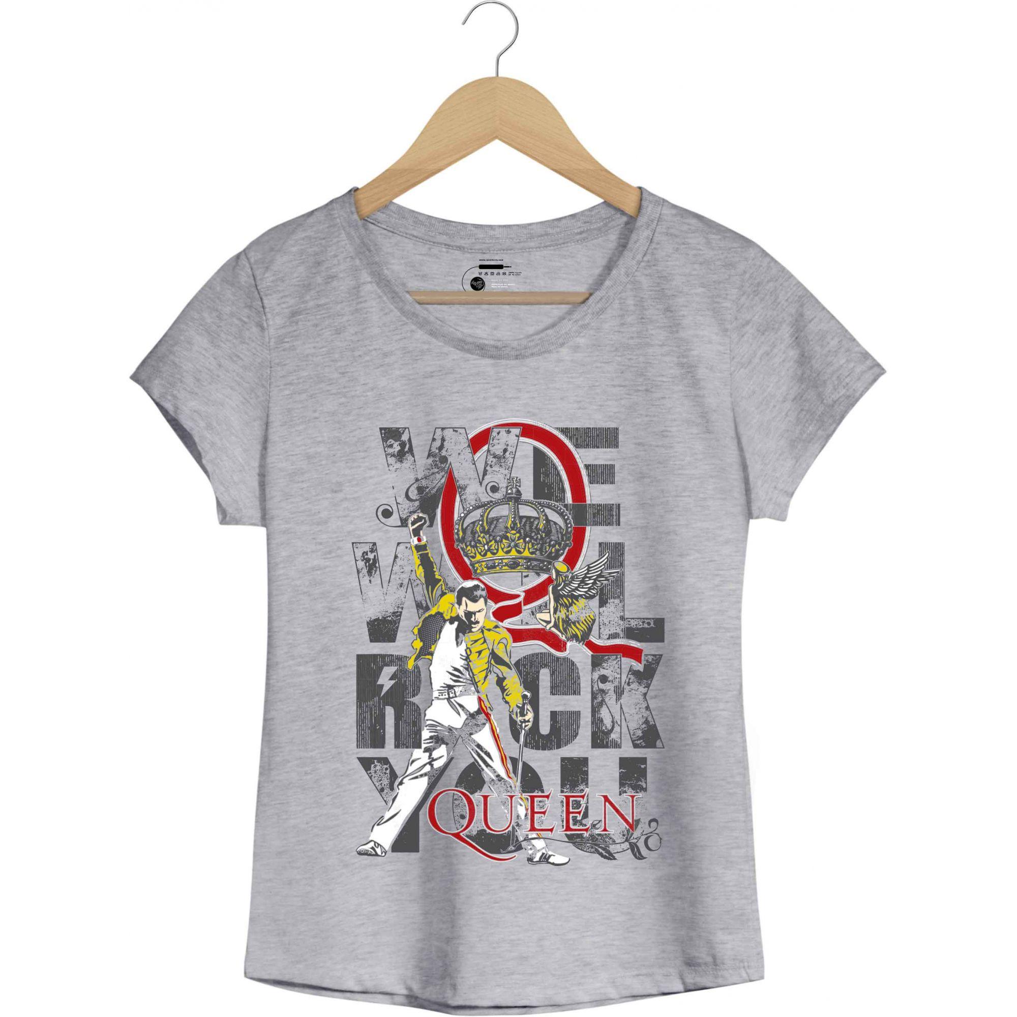 Camiseta We Will Rock You - Queen - Feminino