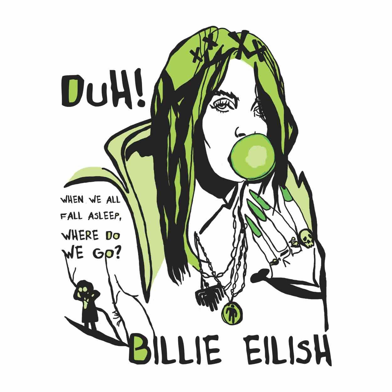 Camiseta When We All Fall Asleep, Where Do We Go? - Billie Eilish - Masculino