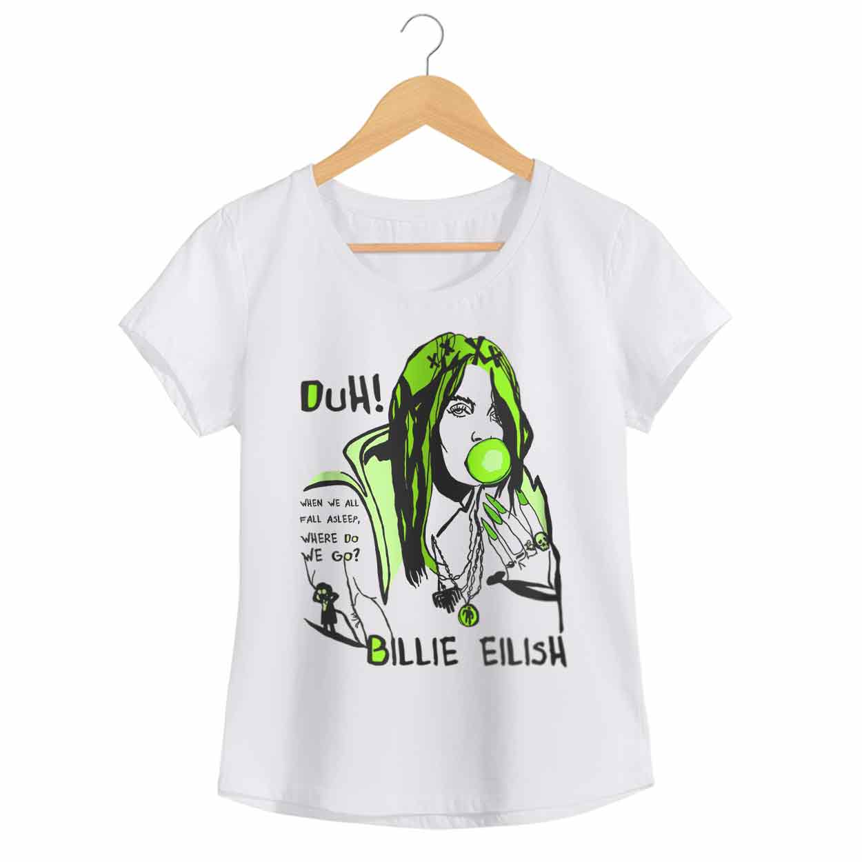 Camiseta When We All Fall Asleep, Where Do We Go? - Billie Eilish - Feminino