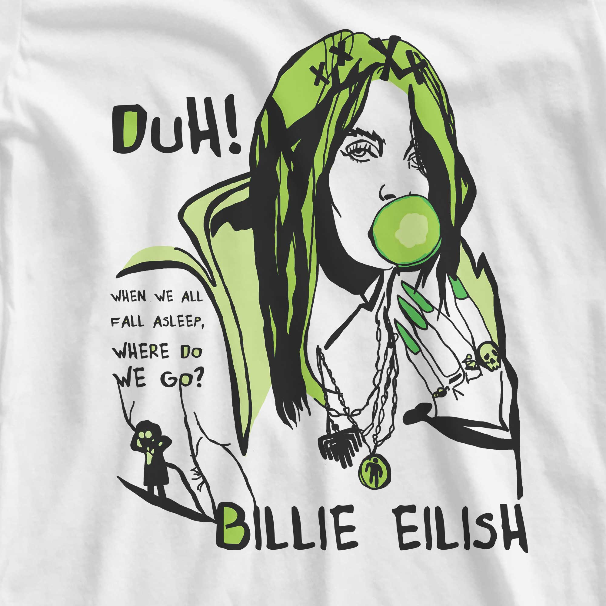 Camiseta When We All Fall Asleep, Where Do We Go? - Billie Eilish - Feminino