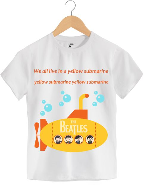 Camiseta - Yellow Submarine - The Beatles - Infantil