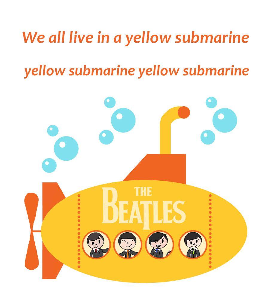 Camiseta Yellow Submarine - The Beatles - Infantil