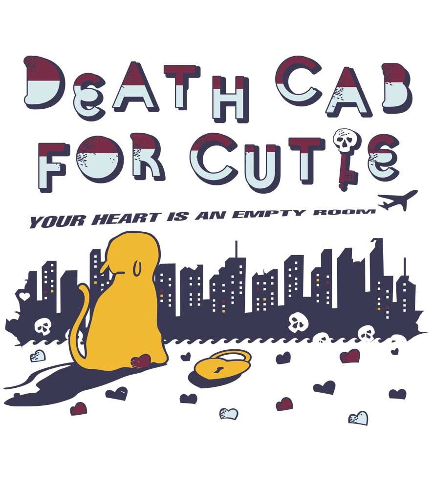 Camiseta Your Heart Is An Empty Room - Death Cab For Cutie - Infantil