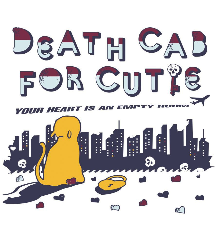 Camiseta Your Heart Is An Empty Room - Death Cab - Masculino