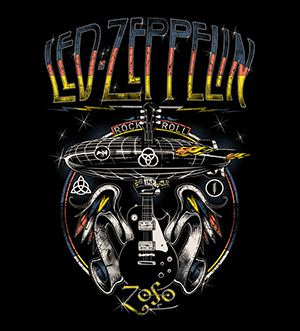 Camsieta - Rock And Roll - Led Zeppelin - Infantil