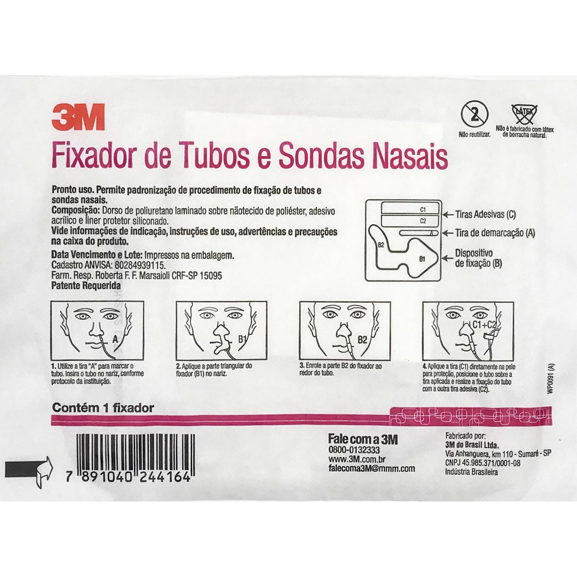 Fixador de Tubos e Sonda Nasais - 3M