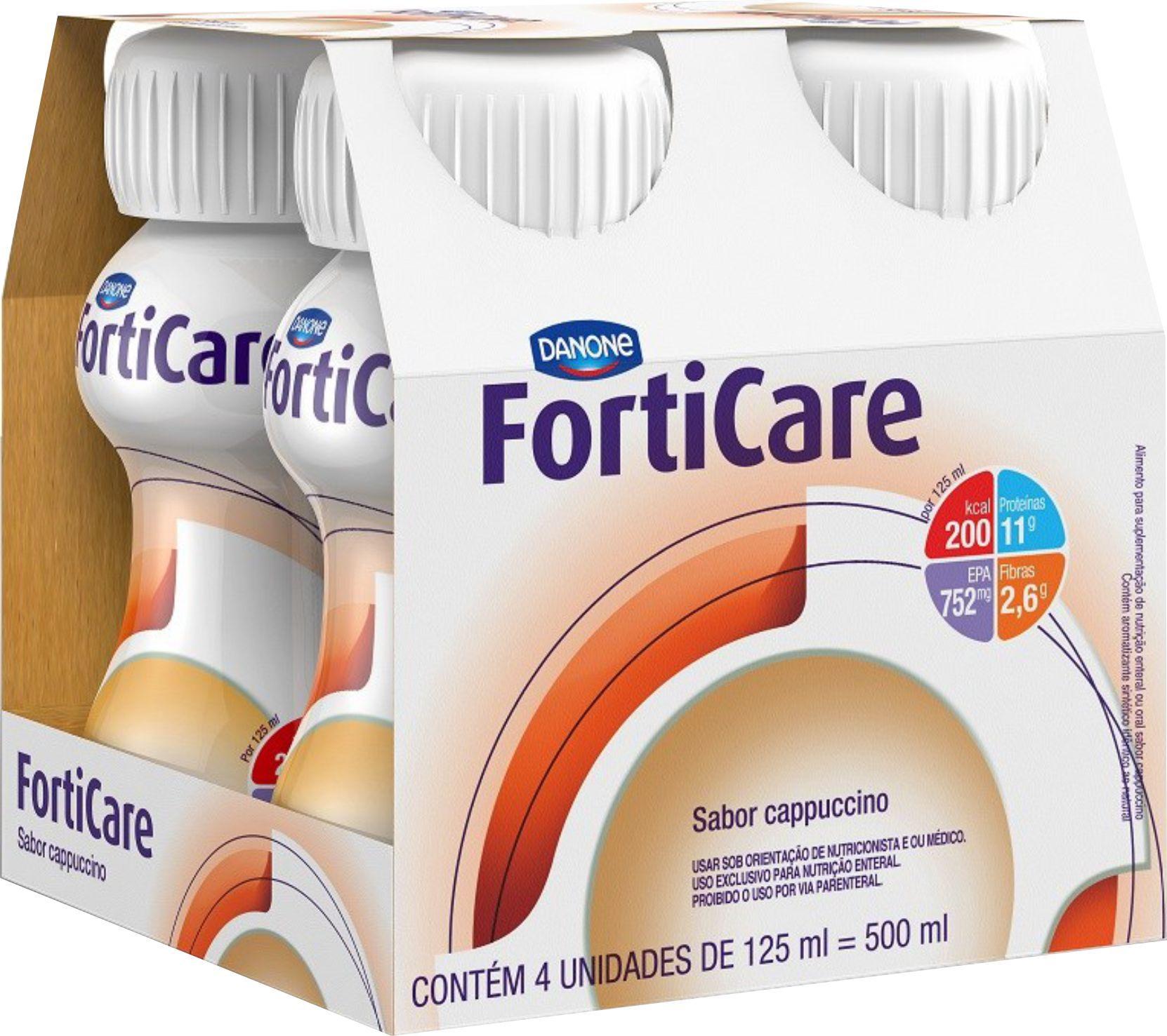 Forticare - Kit 4 unidades 125ml Sabor Cappuccino - Danone