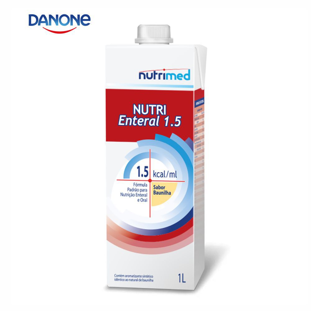 Nutri Enteral 1.5 1 litro - Sabor Baunilha - Danone/Nutrimed