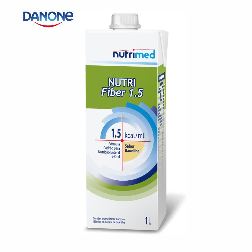 Nutri Fiber 1.5 1 litro - Sabor Baunilha - Danone/Nutrimed