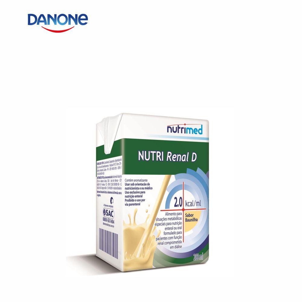 Nutri Renal D 200ml - Sabor Baunilha - Danone/Nutrimed