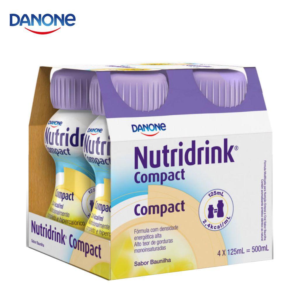 Nutridrink Compact - 4 unidades de 125ml - Sabor Baunilha - Danone