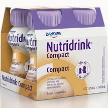 Nutridrink Compact - 4 unidades de 125ml - Sabor Cappuccino - Danone