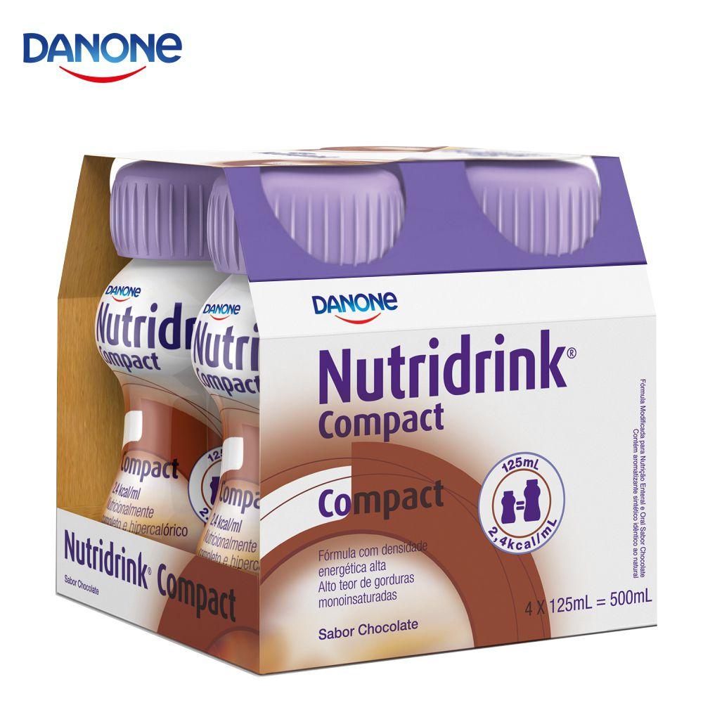 Nutridrink Compact - 4 unidades de 125ml - Sabor Chocolate - Danone
