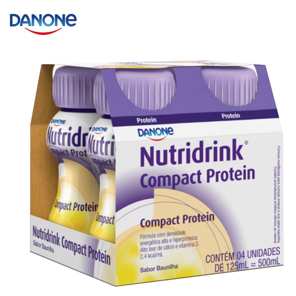 Nutridrink Compact Protein - 4 unidades de 125ml - Sabor Baunilha - Danone