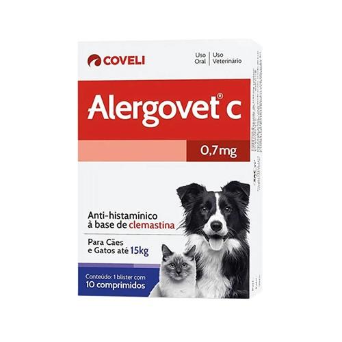 Alergovet C Coveli 10 Comprimidos