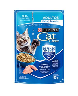 Alimento Úmido Cat Chow Adultos Peixe ao Molho