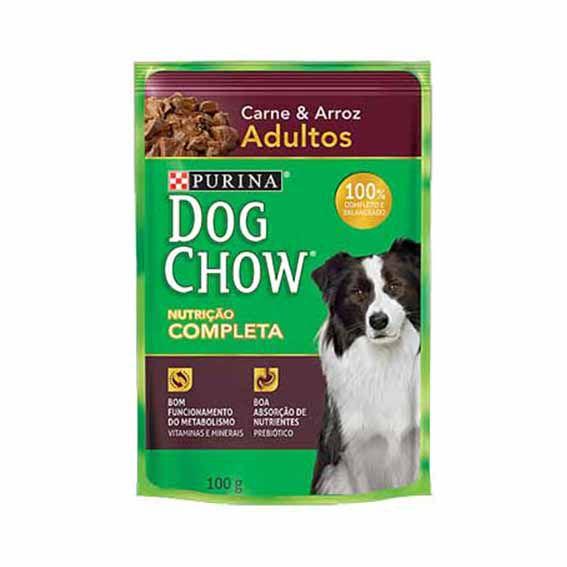 Alimento Úmido Dog Chow Adultos Carne e Arroz