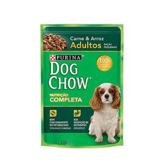 Alimento Úmido Dog Chow Adultos Raças Pequenas Carne e Arroz