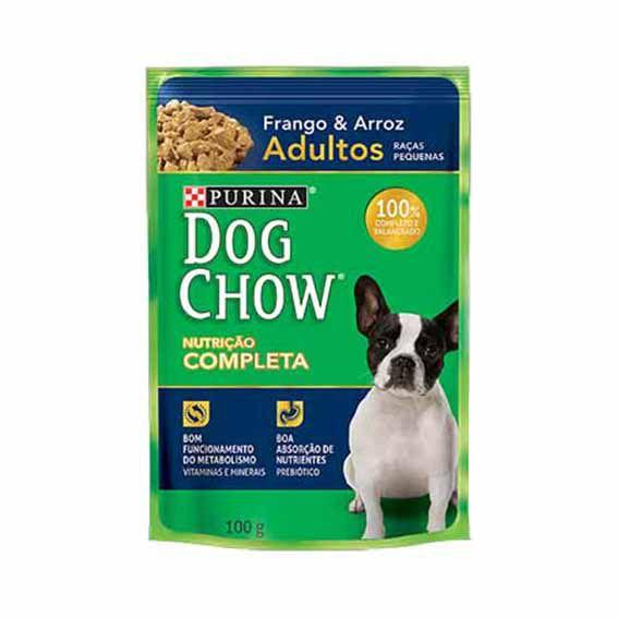 Alimento Úmido Dog Chow Adultos Raças Pequenas Frango e Arroz
