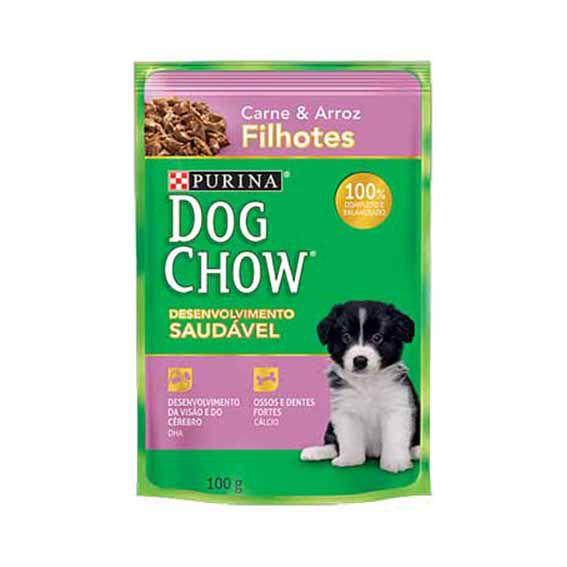 Alimento Úmido Dog Chow Filhotes Carne e Arroz