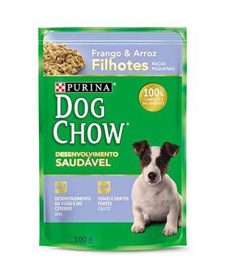 Alimento Úmido Dog Chow Filhotes Raças Pequenas Frango e Arroz