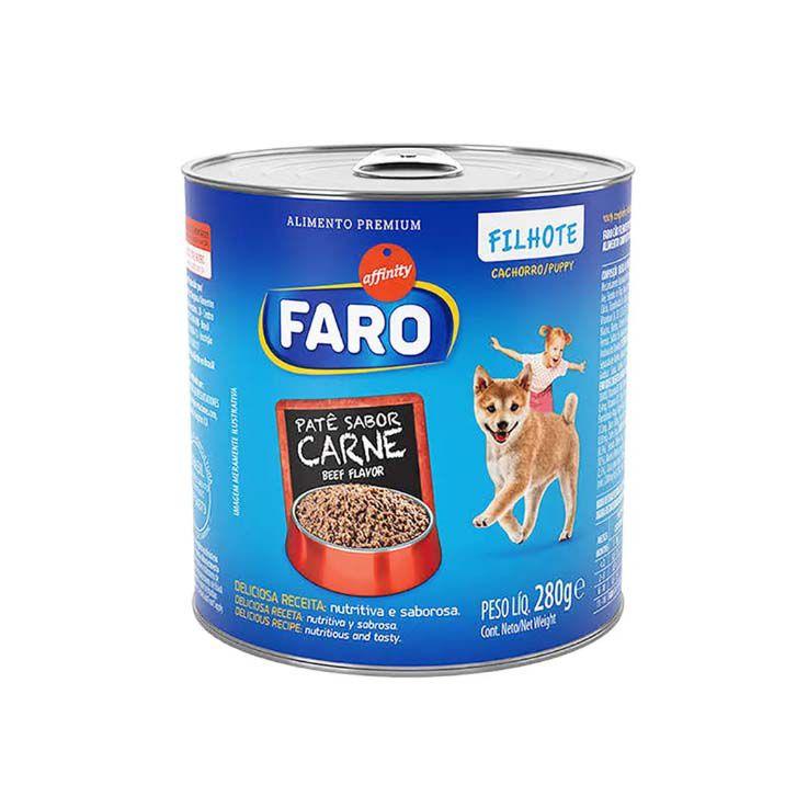 Alimento Úmido Faro Filhotes Lata Patê Carne