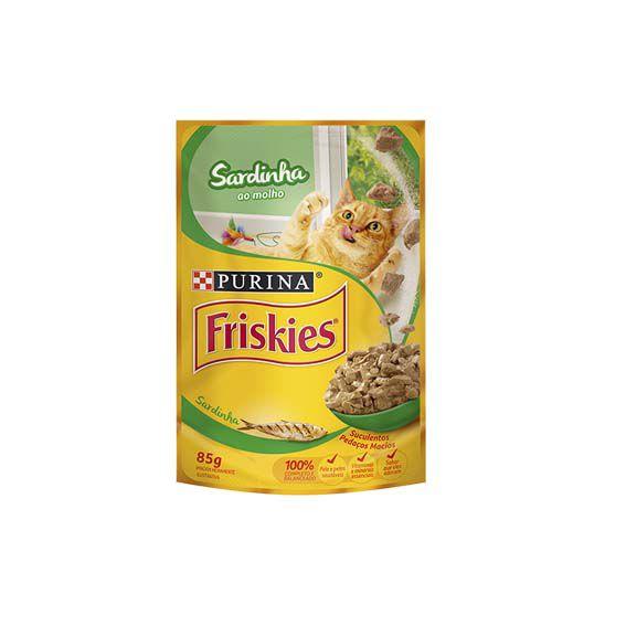 Alimento Úmido Friskies Adultos Sardinha ao Molho