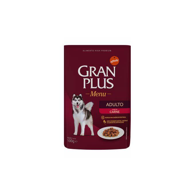 Alimento Úmido Gran Plus Cães Adultos Carne 100g