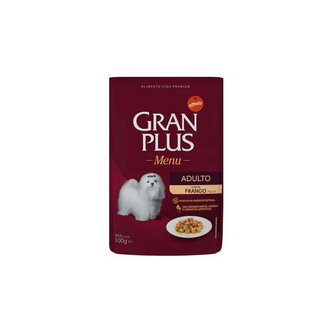 Alimento Úmido Gran Plus Cães Adultos Frango 100g - 6un