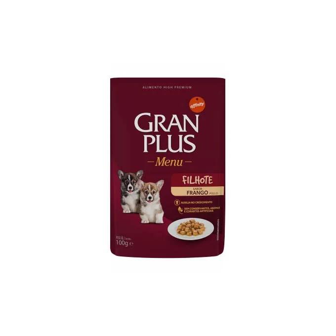 Alimento Úmido Gran Plus Cães Filhotes Frango - 6un