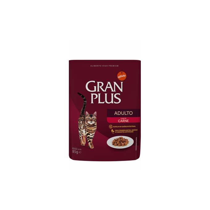 Alimento Úmido Gran Plus Sachê Gato Adulto Carne - 6un