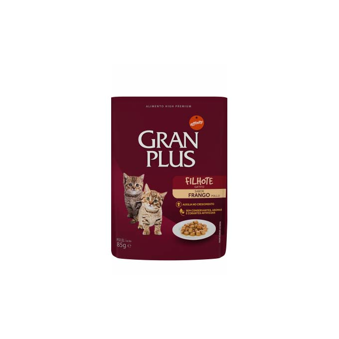 Alimento Úmido Gran Plus Sachê Gato Filhote Frango - 4un