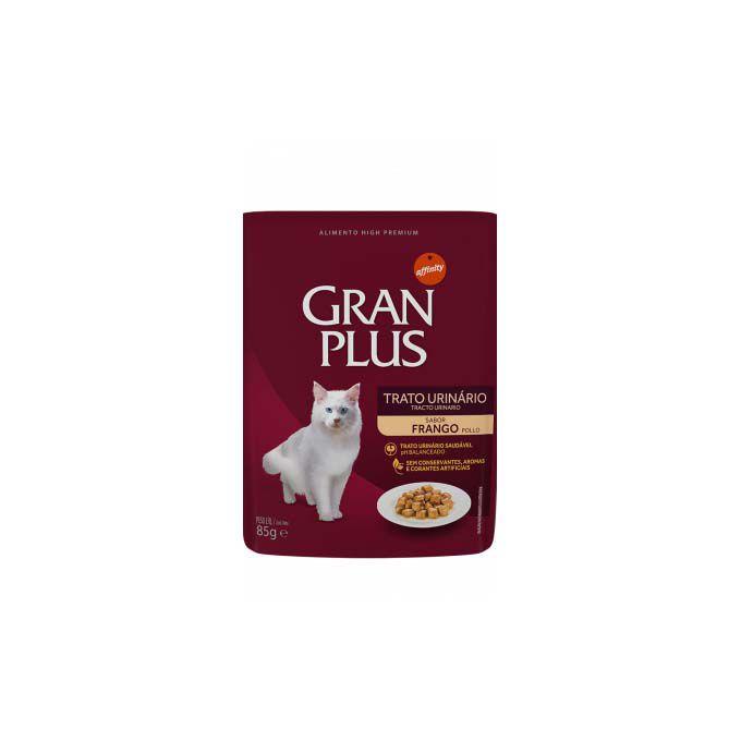 Alimento Úmido Gran Plus Sachê Gourmet Gato Castrado Frango